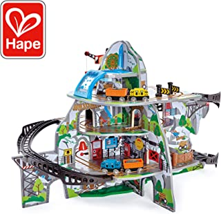 Hape Kids Wooden Railway Mighty Mountain Mine Set