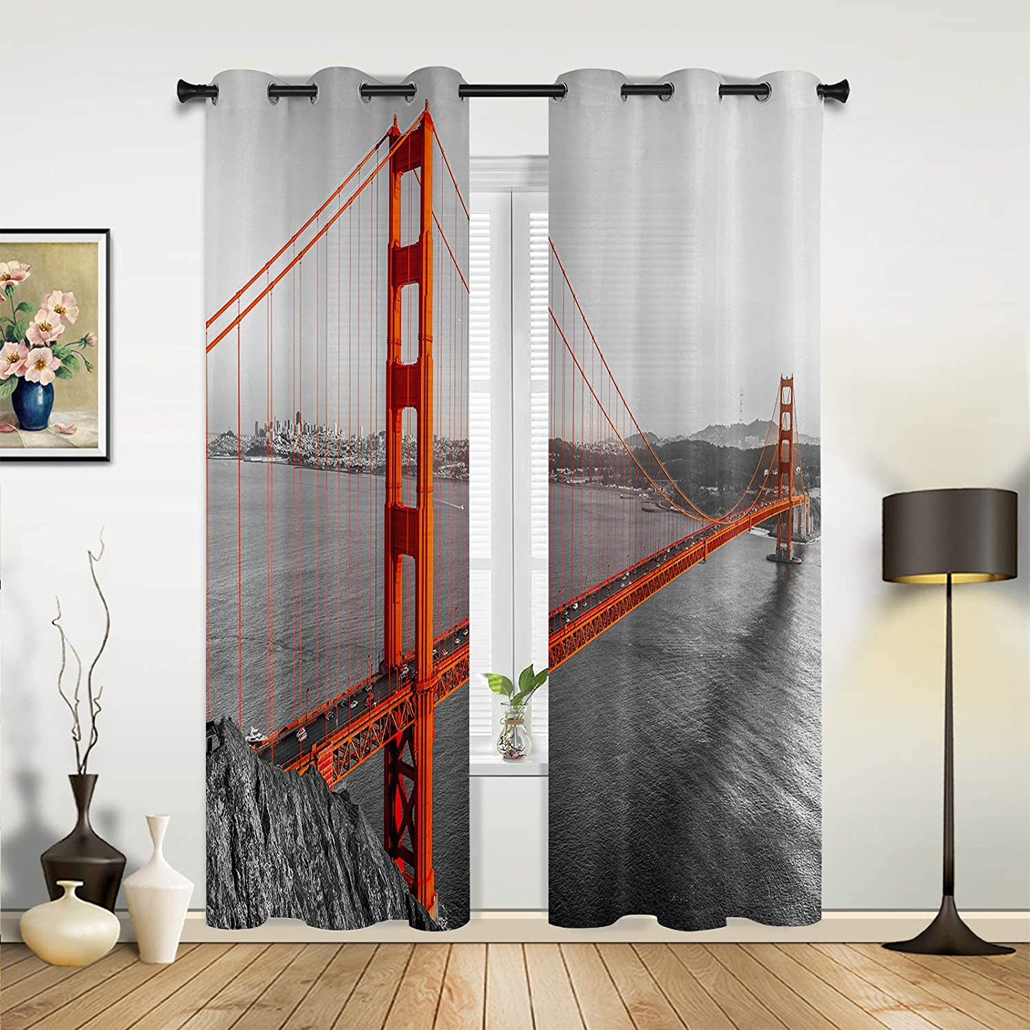Beauty gift Decor Window Sheer Curtains for Bedroom San F Room Living High order