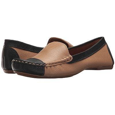 French Sole Allure (Beige/Black Pebble Leather) Women