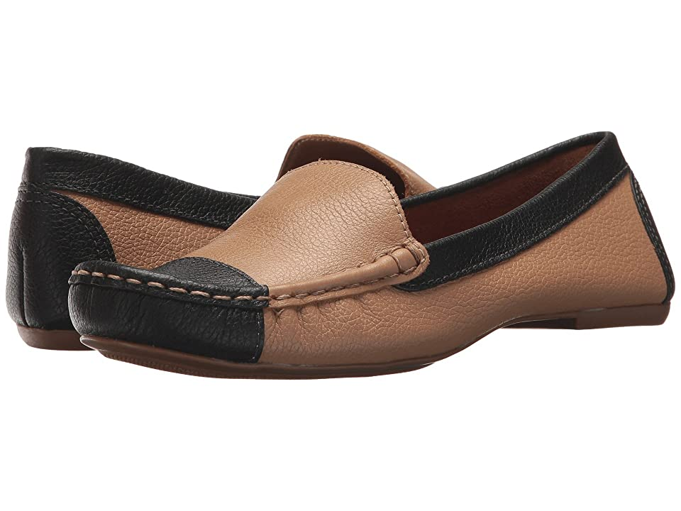 French Sole Allure (Beige/Black Pebble Leather) Women