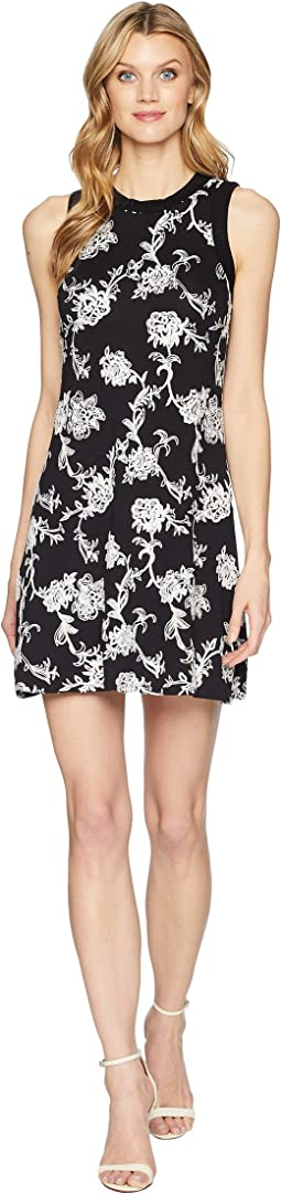 Karen Kane Embroidered Halter Dress