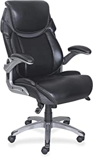 "Lorell 47921 Wellness by Design Chair, 46.8"" x 30"" x 27.8"", Black"