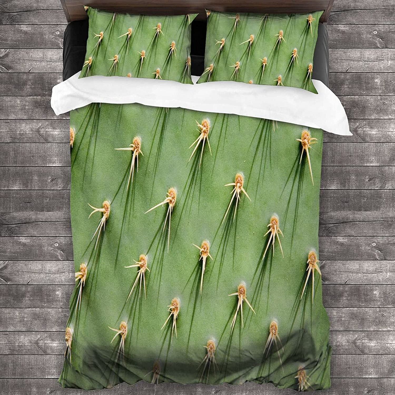 Comforter Sheet Max 42% OFF Pillowcase Sets Close Up Pear Prickly Cheap mail order shopping P Cactus 3