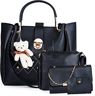 JFC Women's Handbag With Sling Bag (Set of 2) (ST-003CR_Ivory)