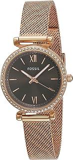 Fossil Carlie Mini Three-Hand Stainless Steel Mesh Watch - ES4957
