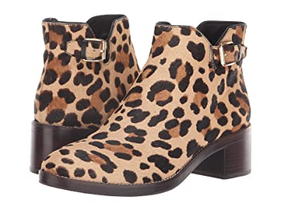Cole Haan Harrington Grand Buckle Bootie (Ocelot Print Haircalf) Women
