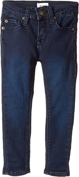 Hudson Kids Collin Skinny Fit Five-Pocket French Terry in Canal Blue (Toddler/Little Kids)