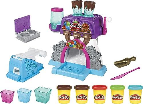 Play-Doh Kitchen Creations, La chocolaterie, avec 5Pots de pâte atoxique, pour Enfants, dès 3Ans