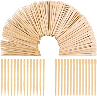 Aneco 800 Pieces Wood Wax Applicator Sticks Wax Spatulas Small Wood Spatulas Applicator for Hair Eyebrow Removal, 2 Style