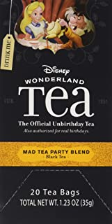 Disney World Parks Exclusive Mad Tea Party Blend Tea Bags Box 20 Count Alice Wonderland Collection - NEW