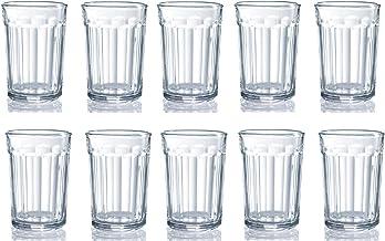 مجموعة من 12 نظارة عمل كبيرة، أكواب شرب لجميع الأغراض، أكواب زجاجية ثقيلة سعة 600 مل