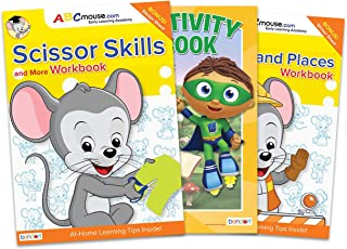 ABCmouse Activity Book Bundle ~ 3 Learning Workbooks for Kids Featuring ABCmouse Workbook Set and Super Why Coloring Book...