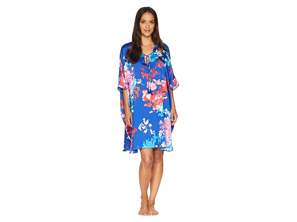 Natori Fiji Caftan Dress (Cobalt) Women