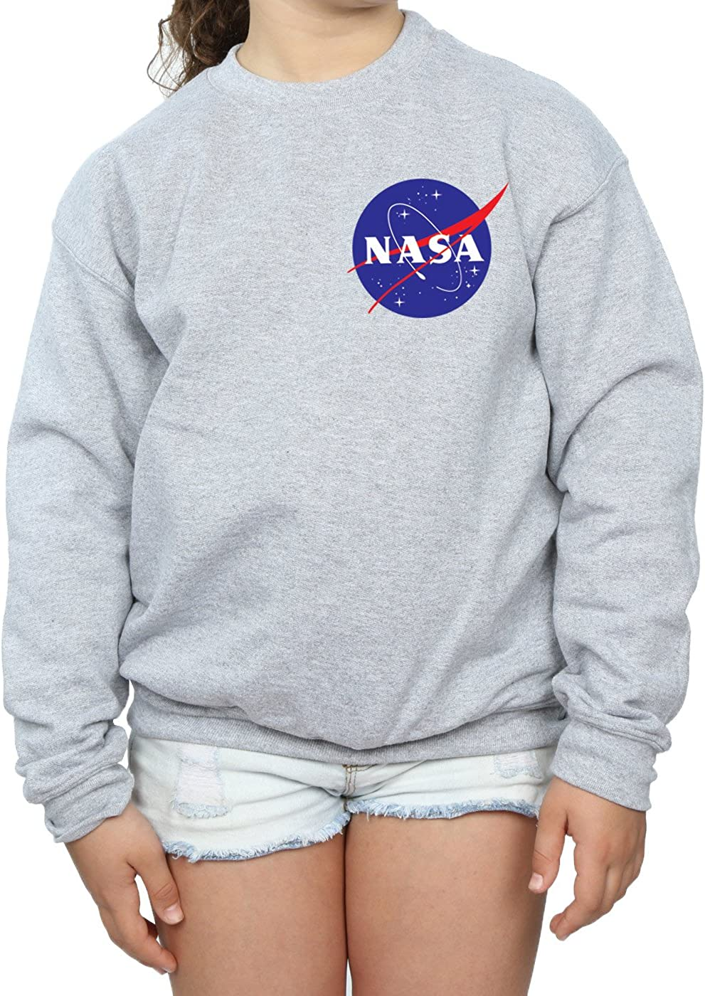 NASA Girls Classic Insignia Pocket Logo Sweatshirt