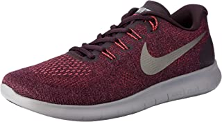 Nike Women's Free RN 2017 Road Running Shoes, Bordeaux/Metallic Pewter-Port Wine-Solar