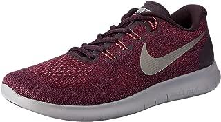 Nike Women's Free RN 2017 Road Running Shoes, Bordeaux/Metallic Pewter-Port Wine-Solar
