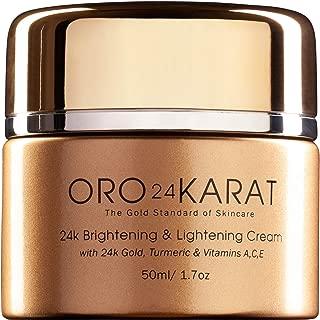 ORO24KARAT Brightening & Lightening Cream with 24k Gold, Turmeric & Vitamins A,C,E