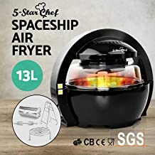5-Star Chef Black Air Fryer Oven Cooker 13L LCD Digital 1300W Multifunctional Healthy