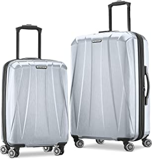 Samsonite Centric 2 Hardside Expandable Luggage with Spinner Wheels, Silver, 2-Piece Set (20/24)