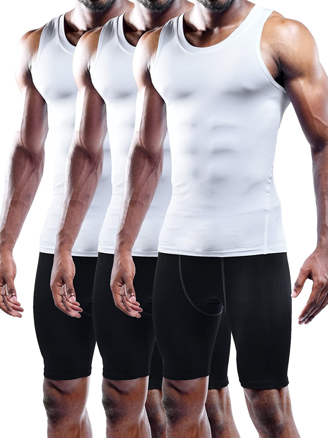 Max 53% OFF Neleus Reservation Men's 3 Pack Dry Top Tank Compression Fit