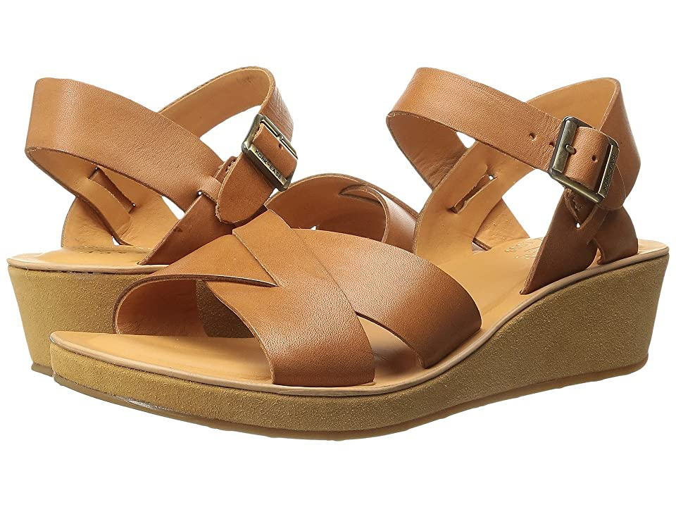 Vintage Sandal History: Retro 1920s to 1970s Sandals Kork-Ease Myrna Vachetta Natural Womens Wedge Shoes $135.00 AT vintagedancer.com