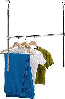 Honey-Can-Do HNG-01816 Chrome Adjustable Hanging Closet Rod, 1-Pack,