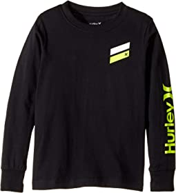 Hurley Kids - Icon Slash Long Sleeve Tee (Little Kids)