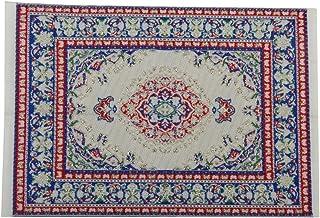 Alfombra de casa de muneca - SODIAL(R) alfombra tejida de multiples colores de en miniatura de muebles de casa de muneca