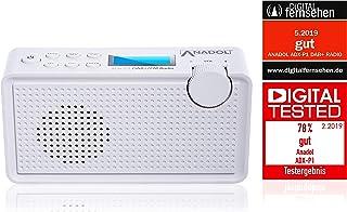 Anadol ADX-P1 DAB/DAB+ radio voor FM/FM - draagbare radio FM geschikt - kofferradio stereo met batterij - digitale radio m...