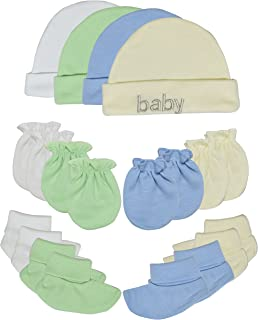 Songbai Baby Gift Set Caps Socks and Mittens for Newborn Boys Girls