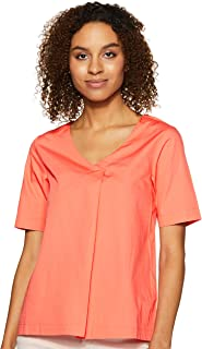 Amazon Brand - Symbol Women's Solid Loose Fit Blouse