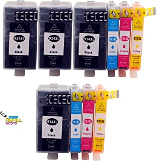 Toner Refill Store Compatible 934XL 935XL Ink Cartridge Replacement for the HP C2P23AN C2P24AN C2P25AN C2P26AN. (4 Black,2 Cyan,2 Magenta,2 Yellow,10-Pack)