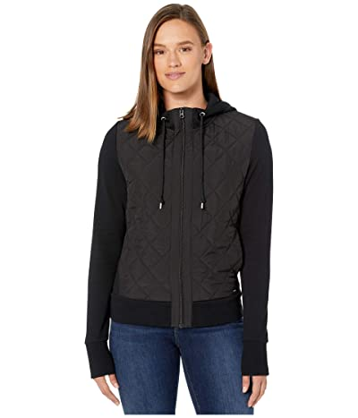 Lorna Jane Quilted Street Hoodie (Black) Women
