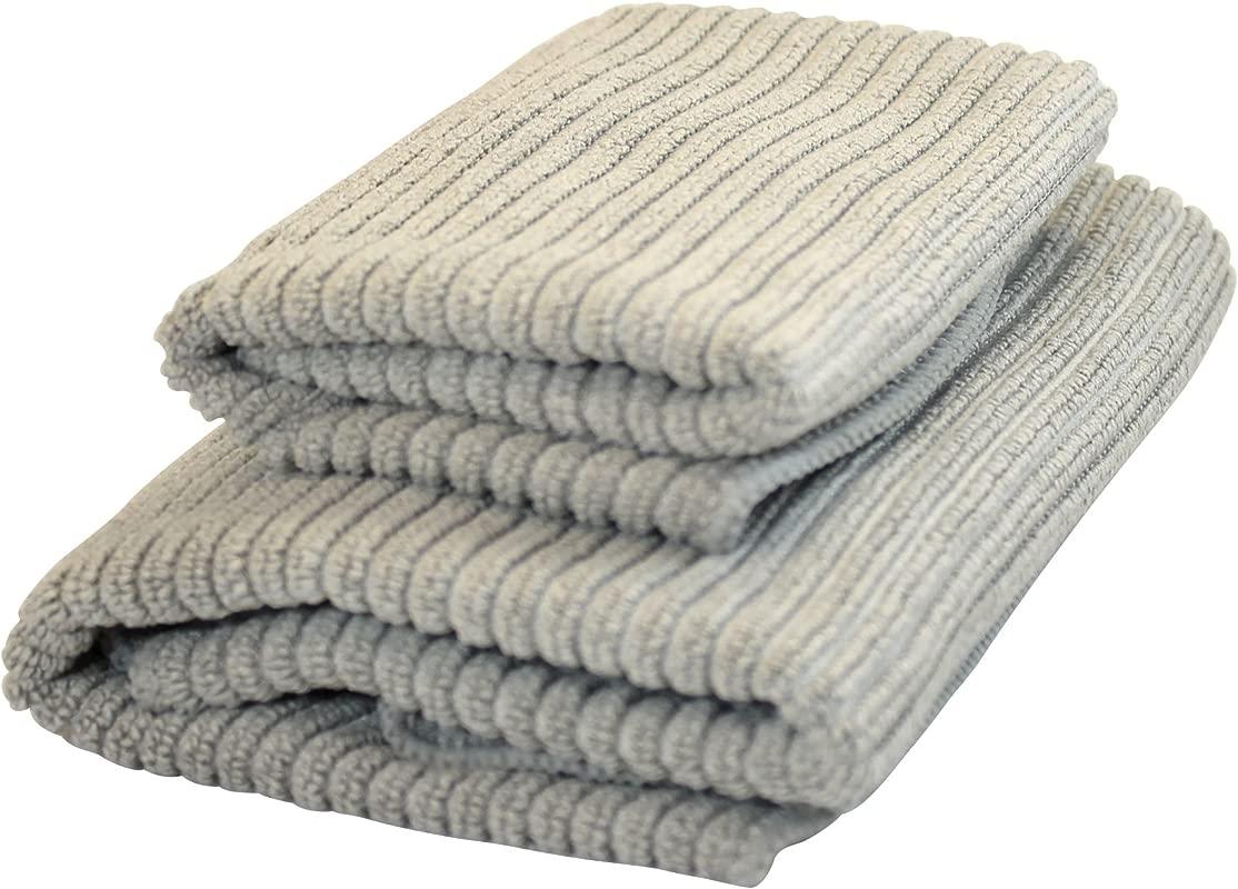 Norwex Antibacterical Antimicrobial Microfiber Kitchen Cloth Kitchen Towel Set Graphite