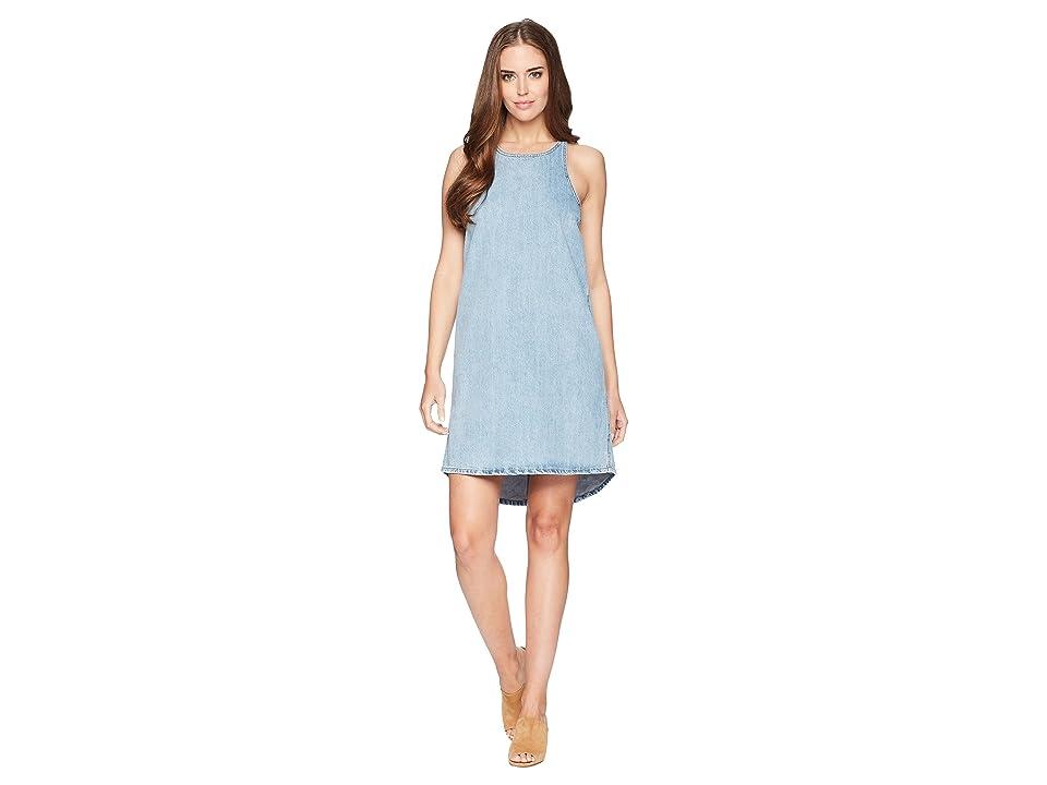 Lucky Brand Button Back Dress (Grisham) Women