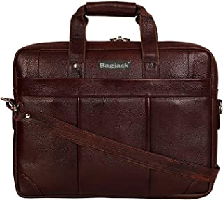 BAG JACK - Cassiopeia | Style on The go | Handcrafted | Natural Grain Leather | Men Office Bag | Leather Laptop Bag | Lapt...