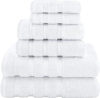 American Soft Linen Towel Set 2 Bath Towels 2 Hand Towels 2 Washcloths Super Soft Absorbent 100% Turkish Cotton Towels for...