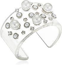 Steve Madden Casted Geo Ball Open Bangle Bracelet