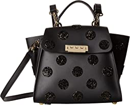 Eartha Iconic Convertible Backpack - Black with Swarovski® Crystals