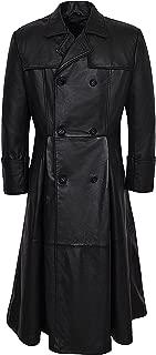 Smart Range Men's Morpheus Full Length Matrix Leather Jacket Coat