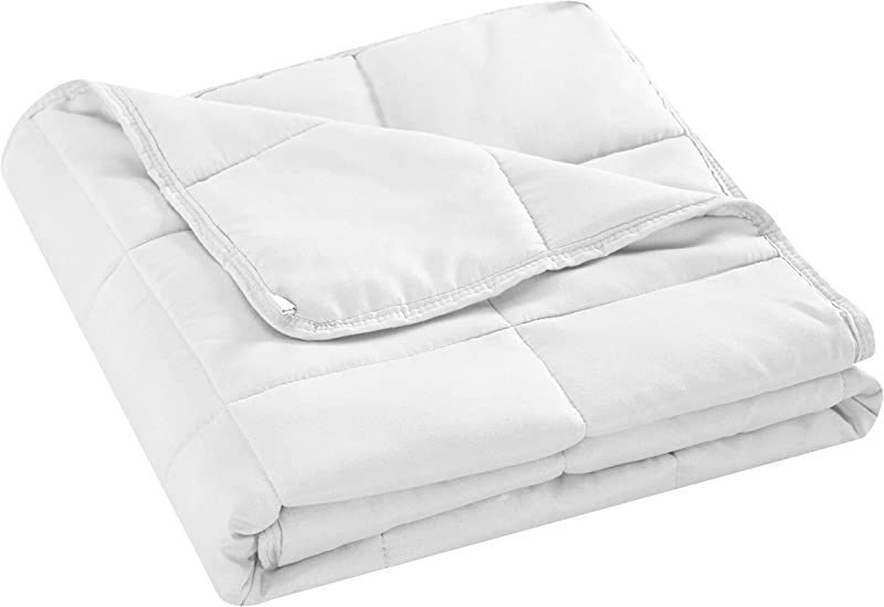 Well Being Weighted Blanket With Glass Beads For Children Boys And Girls 5 Pounds White