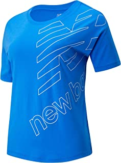 New Balance Women Essentials Stacked Boxy Tee Top