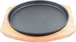 Round Cast Iron Set W/Rubber Wood Underliner (8.5