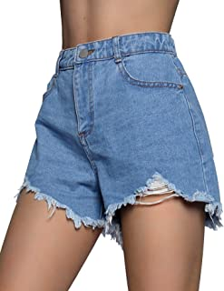 Cestyle Women's Casual Summer Denim Jean Shorts with Pockets