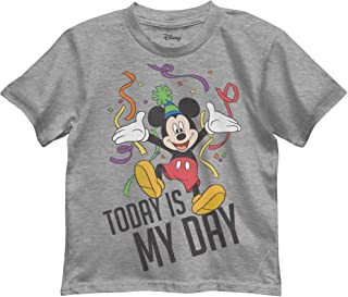 Boys' Mickey Mouse Today is My Day Birthday Graphic Tee T-Shirt