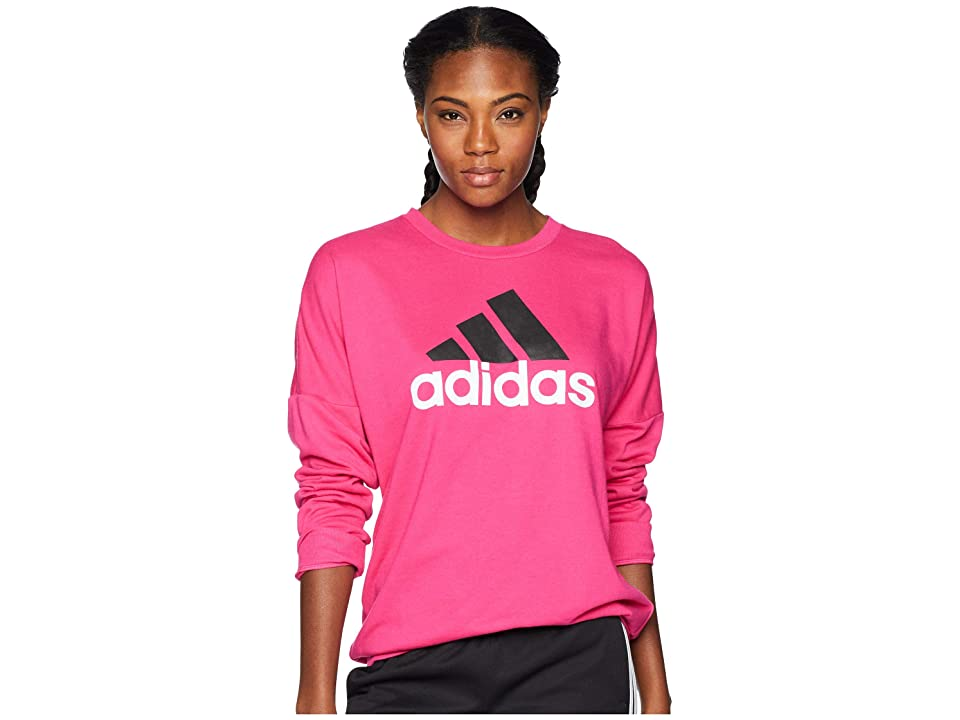 adidas Badge of Sport Pullover (Real Magenta/Black) Women