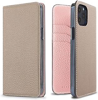 BONAVENTURA Diary Smartphone Case [Compatible with iPhone 12/12 Pro, Greige & Sakura] BODT12-GGPK