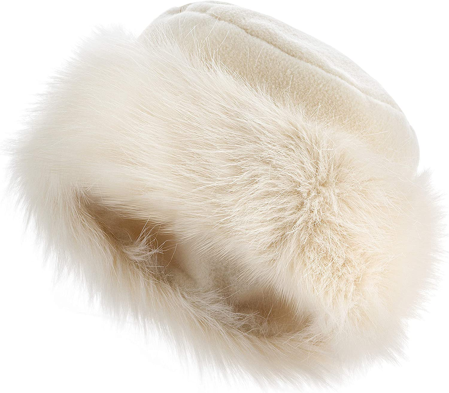 Futrzane Faux Fur Trimmed Winter Sale special price Hat Fort Worth Mall Women Russian for Classy -