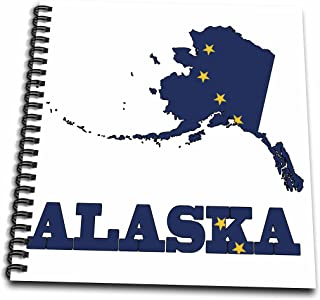 3dRose db_58720_2 Alaska State Flag in The Outline Map and Letters of Alaska Memory Book, 12 by 12-Inch