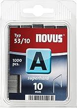 Novus Fijndraadklemmen superhard 10 mm, 1000 nietjes van type 53/10 van staaldraad, voor stof en hout